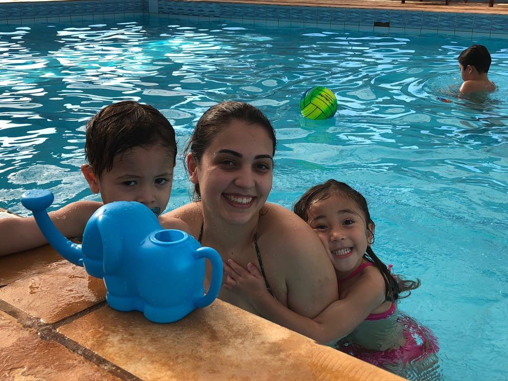 piscina coberta e climatizada