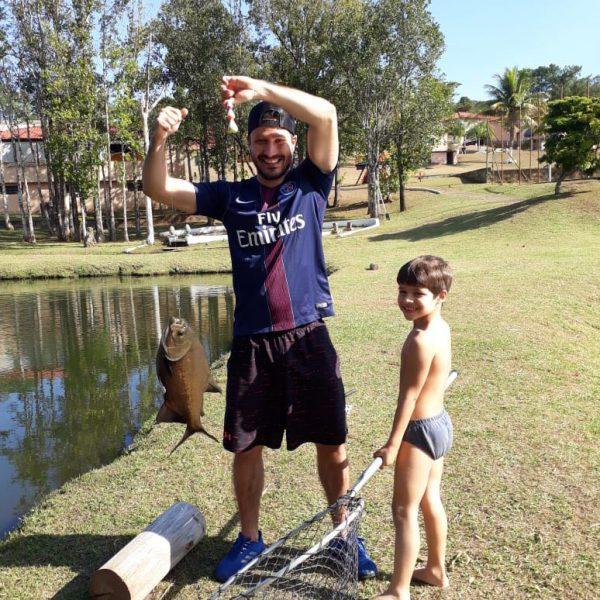 lugar para pescar com seu filho!